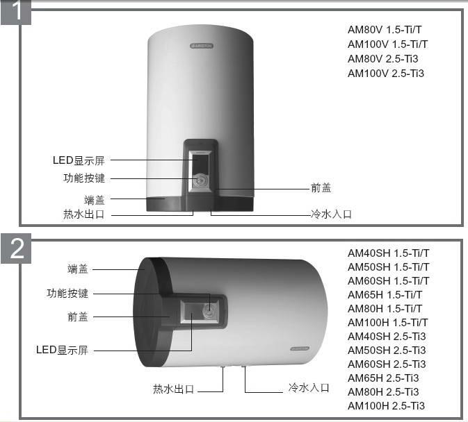 阿里斯顿AM50SH 2.5-Ti3电热水器使用说明书