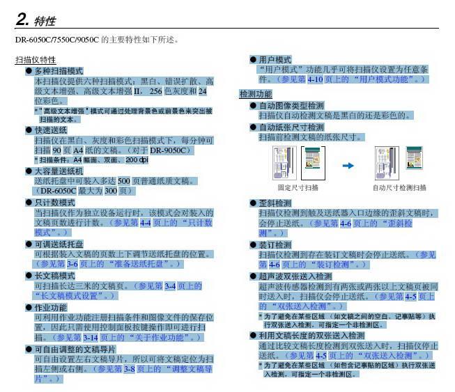 CANon DR-7550C扫描仪使用说明书截图1
