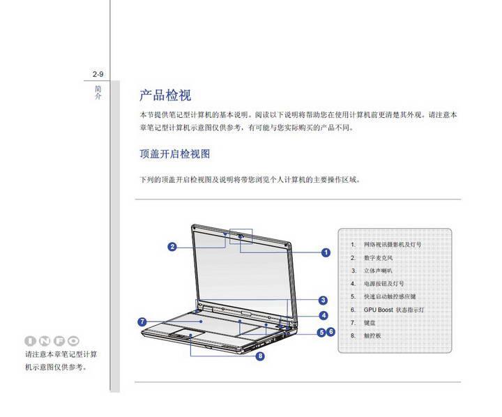 微星MSI GE603笔记本电脑使用说明书截图1