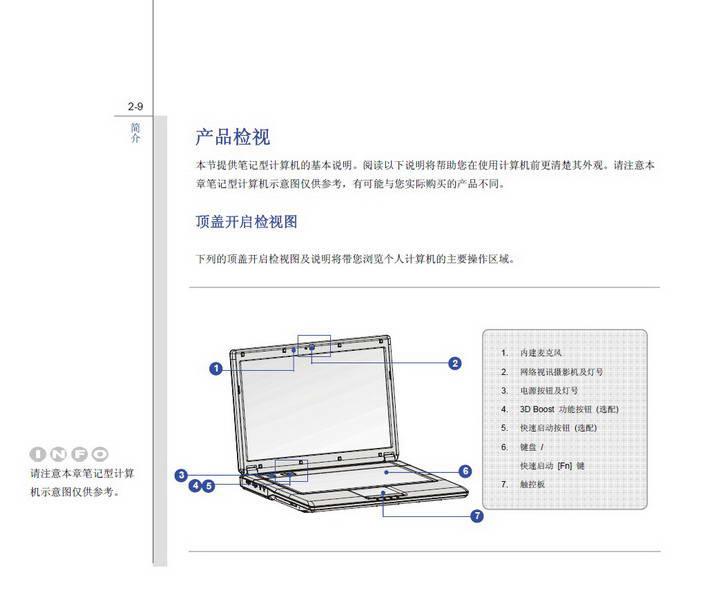 微星MSI CR420笔记本电脑使用说明书截图1