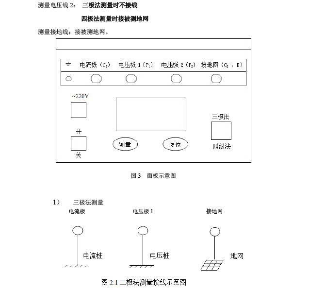 华胜FS3042大地网接地电阻测试仪说明书