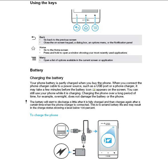 索尼(爱立信) Xperia tipo ST21a2手机说明书截图1