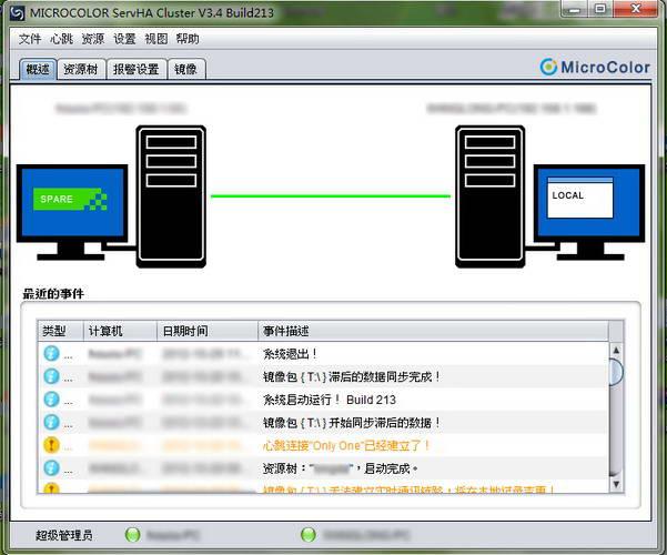 MicroColor ServHA Cluster双机热备监控端 For Linux截图1