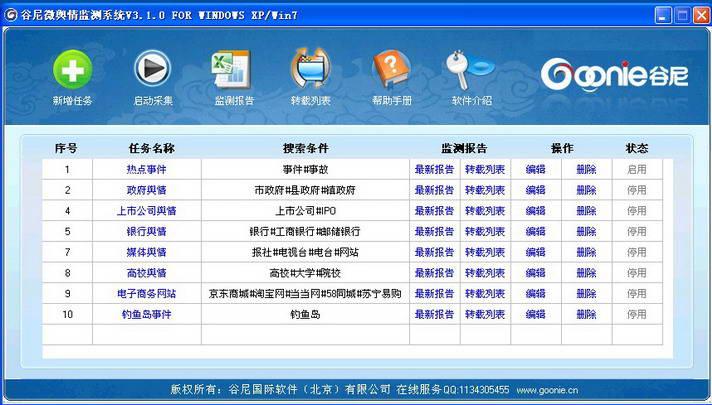 谷尼银行舆情监控系统截图1