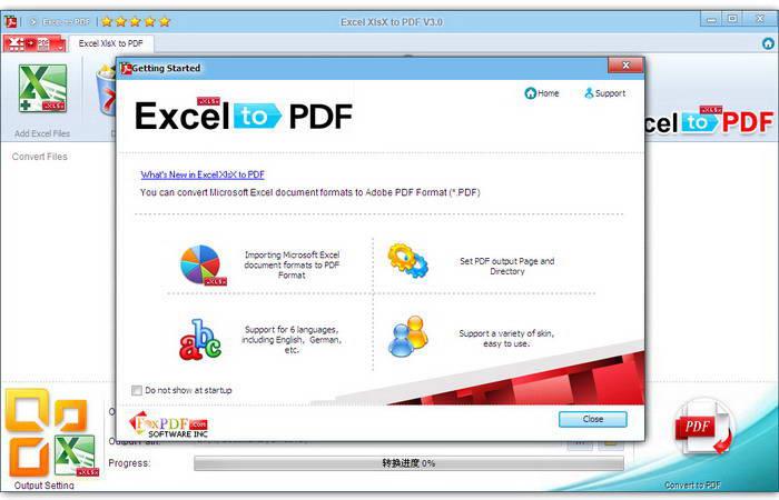 Excel XlsX to PDF截图1