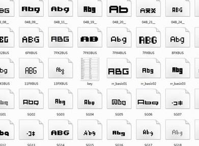 60种常用英文字体打包下载截图1