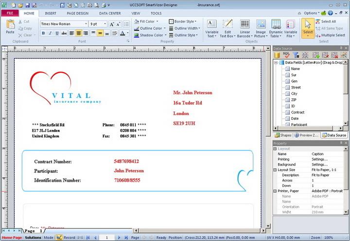 SmartVizor 可变数据批量打印软件截图1