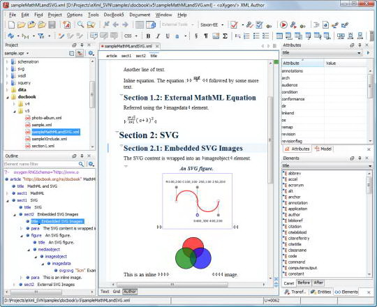 oXygen XML Author For Linux截图1