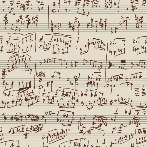 手写乐谱草稿截图1
