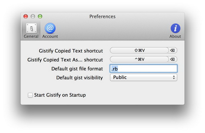 Gistify For Mac截图1