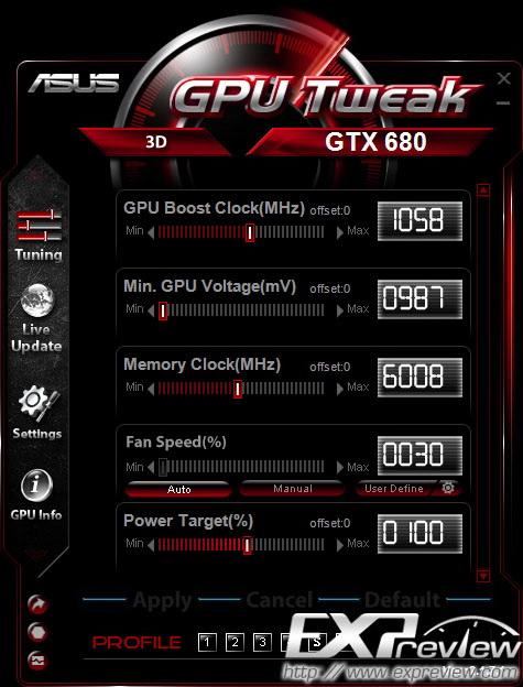 华硕显卡超频工具 ASUS GPU Tweak截图2