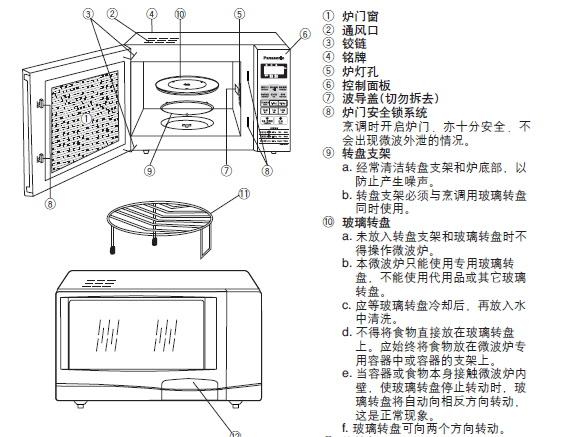 松下微波炉NN-GD586A型使用说明书截图1