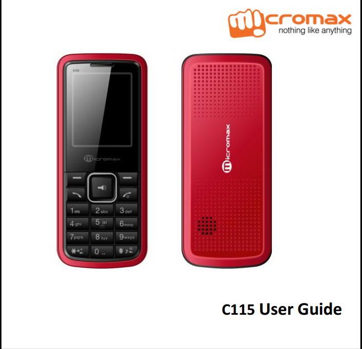 Micromax C115手机说明书截图1