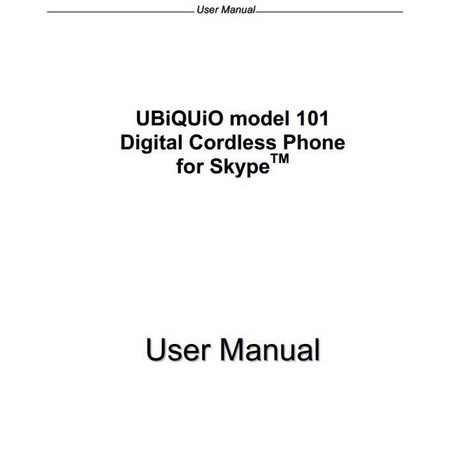 UBiQUiO 101手机说明书截图1