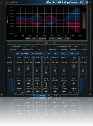 Blue Cat-s Widening Parametr'EQ For Mac RTAS截图1