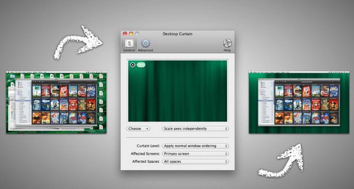 Desktop Curtain for MAC截图1