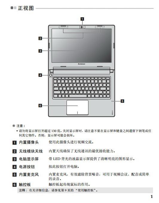 联想Lenovo IdeaPad S310笔记本电脑说明书截图2