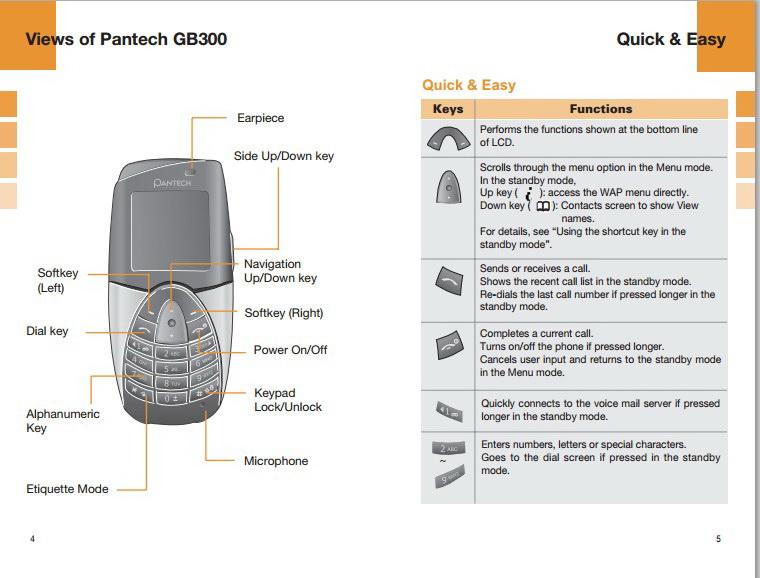 泛泰GB300手机说明书截图2