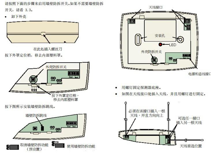 博世RF3222无线接收器安装手册截图2