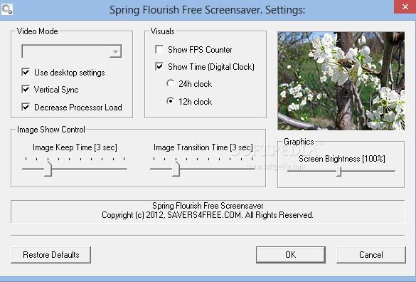 Spring Flourish Free Screensaver截图2
