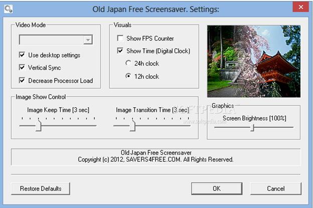 Old Japan Free Screensaver截图2