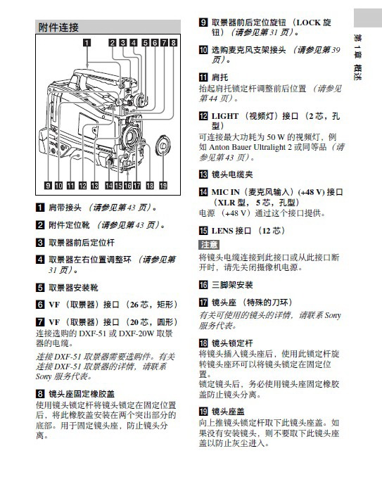 SONY索尼PMW-580L数码摄像机说明书截图2