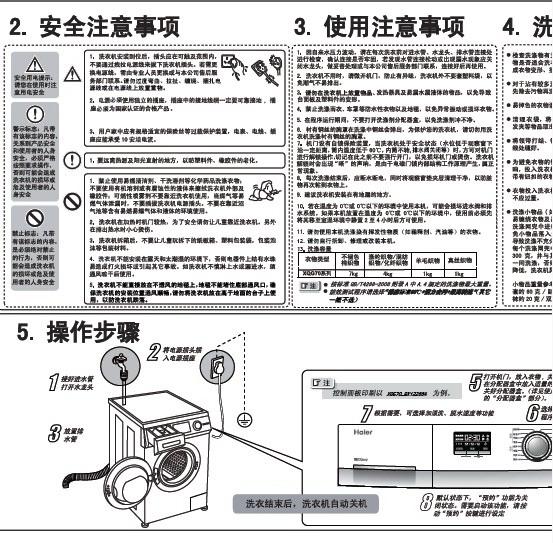 海尔XQG70-BX12266A 洗衣机使用说明书截图2