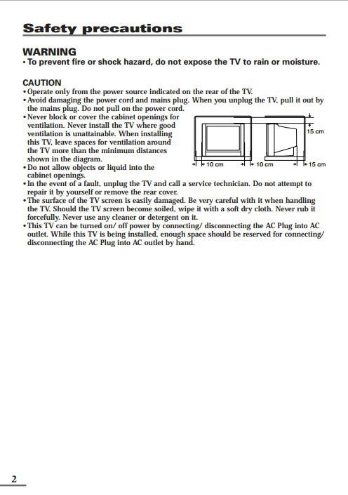 JVC胜利AV-2106YE彩电使用手册截图2