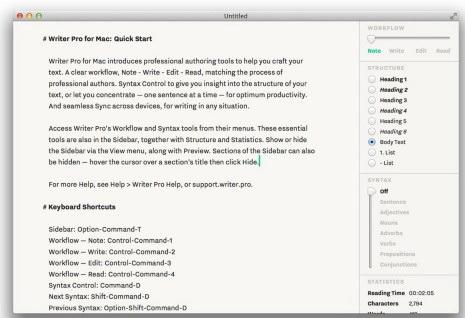 Writer Pro For Mac