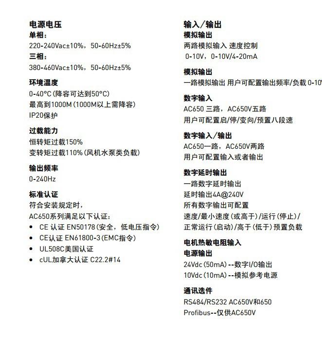 派克650-43168030-BF1P00-A2变频器使用手册
