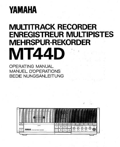 雅马哈MT44D声处理器说明书截图1