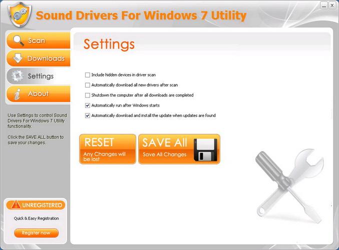 Sound Drivers For Windows 7 Utility截图1