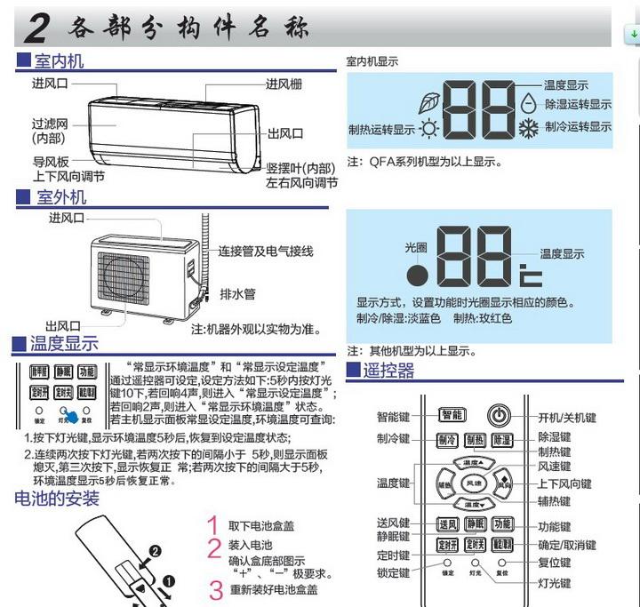 海尔KFR-35GW/09QEA23A(动感曲线)家用空调使用安装说明书截图1