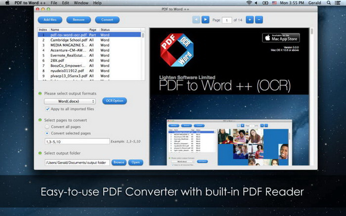 PDF to Word OCR For Mac截图1