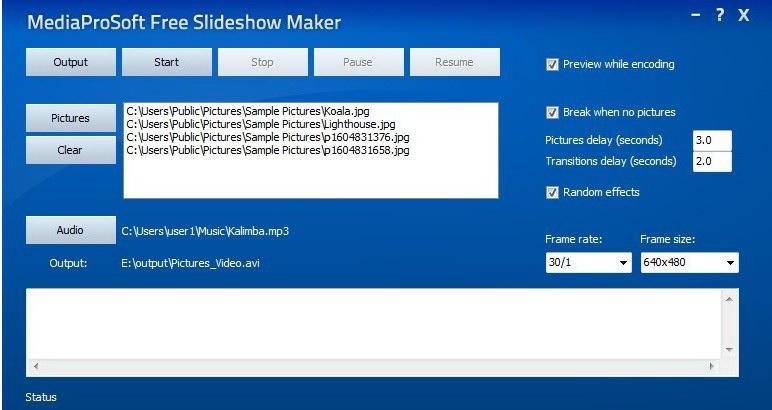 MediaProSoft Free Slideshow Maker截图1