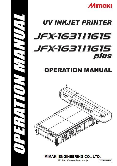 Mimaki JFX-1631+打印机说明书截图1