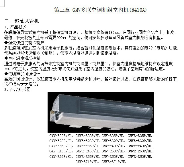 格力GMVR-R22P/NaL多联空调机组室内机安装说明书截图1
