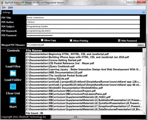 iRedSoft Batch PDF Merge (32 Bit)截图1