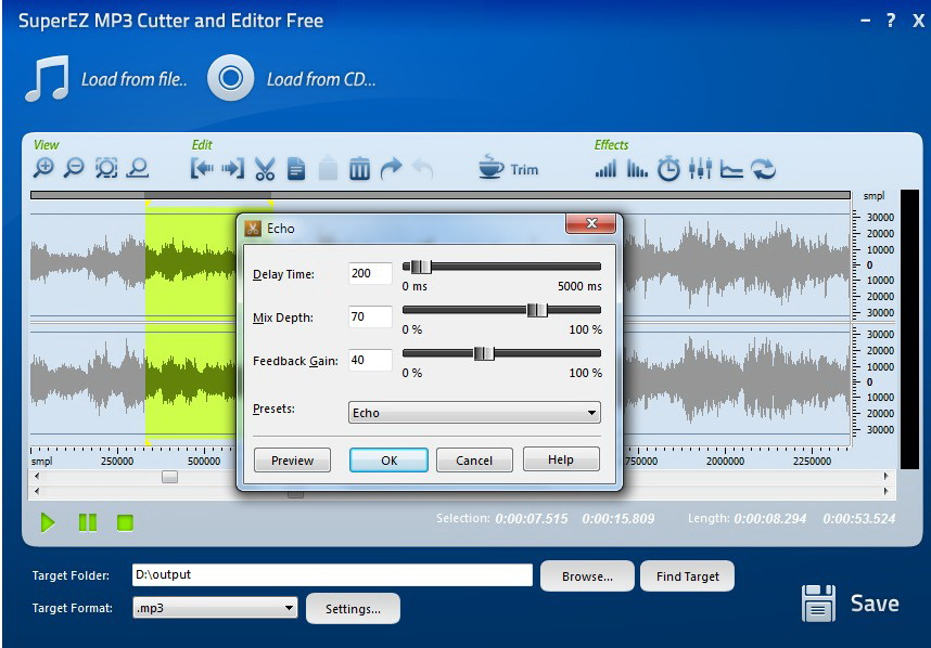 SuperEZ MP3 Cutter and Editor Free截图1