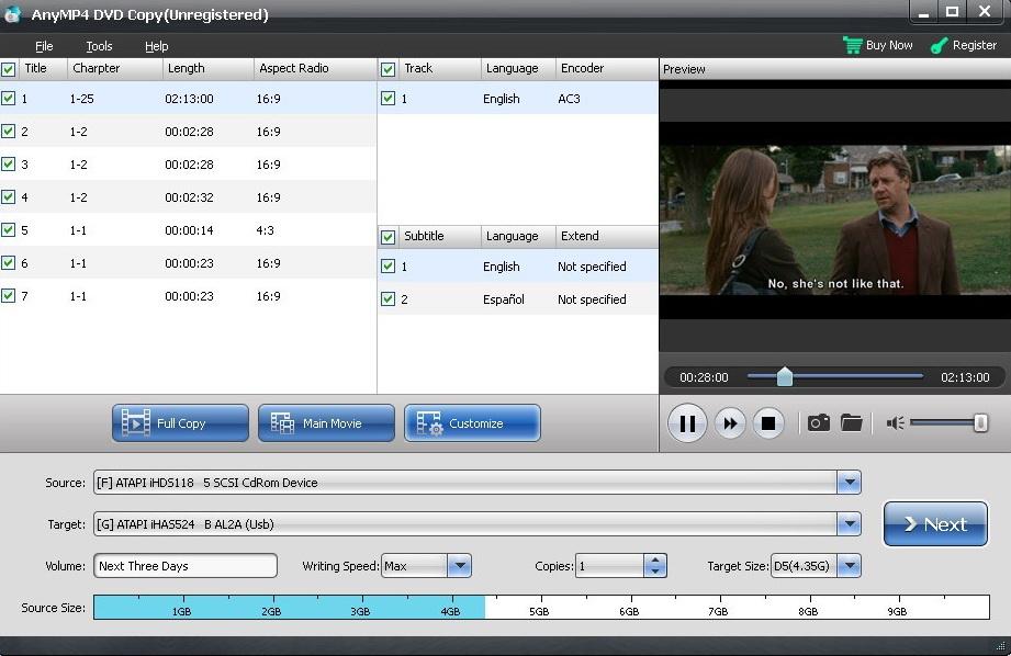 AnyMP4 DVD Copy截图1