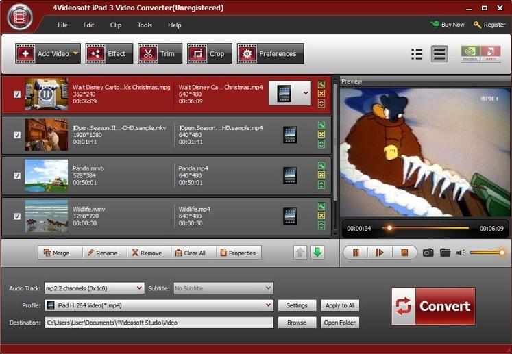 4Videosoft iPad 3 Video Converter