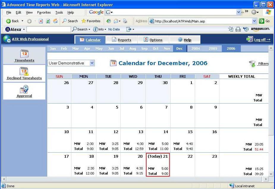 Advanced Time Reports Web Professional截图1