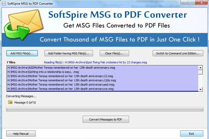 Migrate MSG to PDF截图1