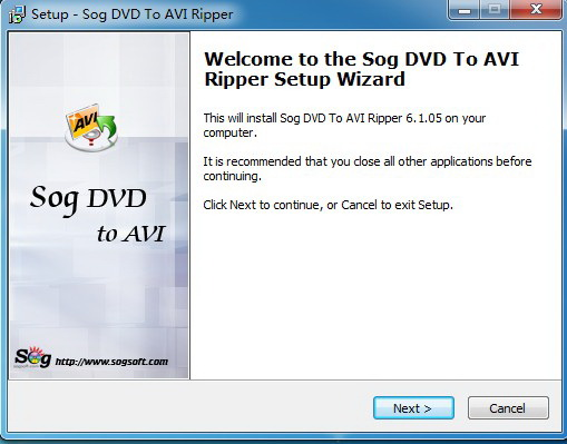 Sog DVD to AVI ripper截图1
