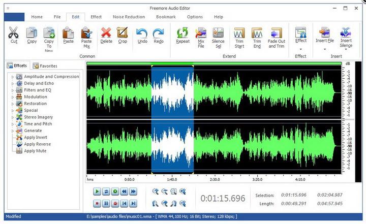 Freemore Audio Editor