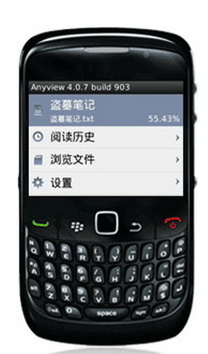 Anyview阅读器 For BlackBerry截图1