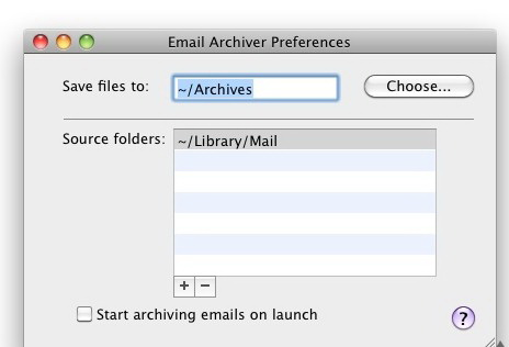 Email Archiver  For Mac截图1