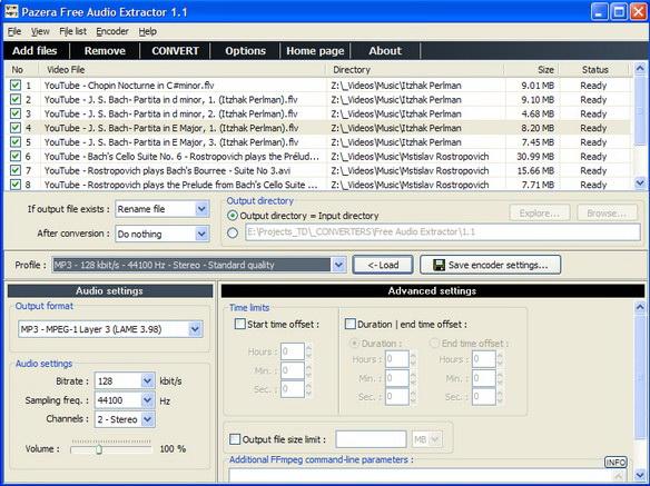 Pazera Free Audio Extractor截图1