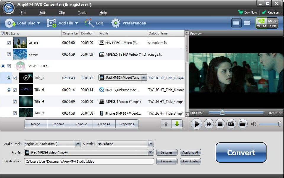 AnyMP4 DVD Converter截图1