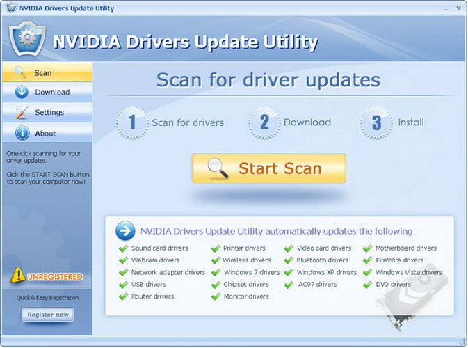 NVIDIA Drivers Update Utility截图1